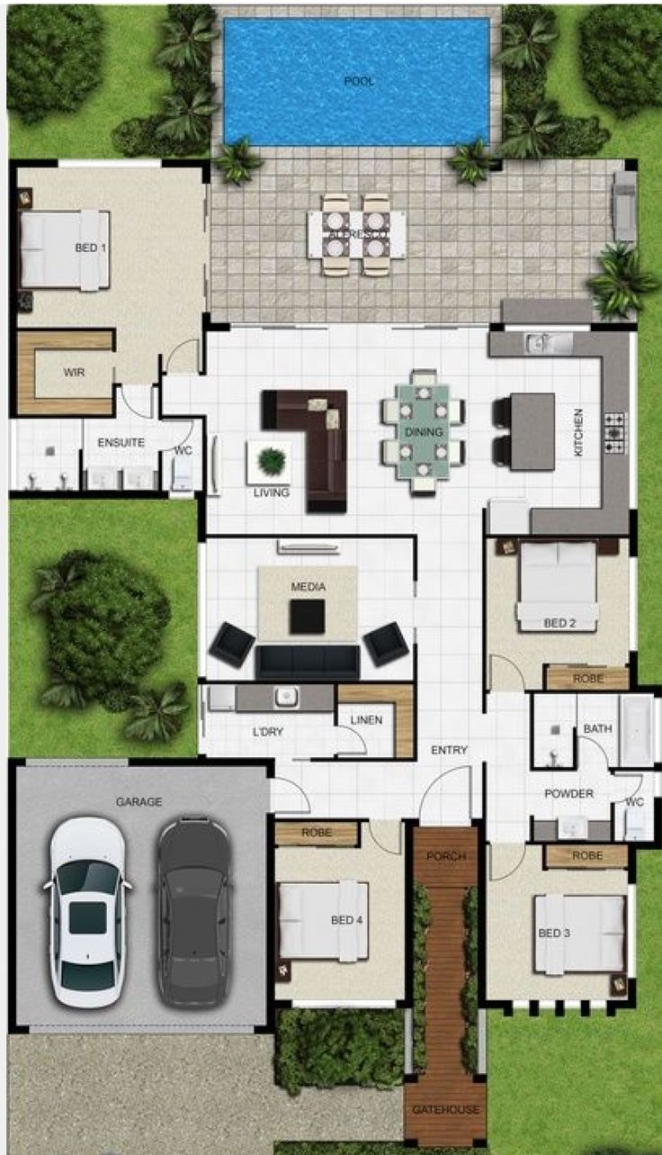 Good layout, just change master so be faces out towards the back to get same view as living area