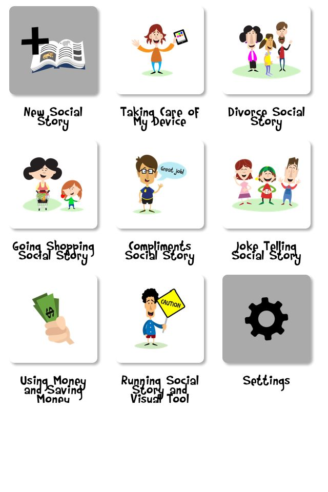 Social Story Creator and Library. Perfect for Kids with Autism that struggle with change, anxiety, transitions, and understanding. The visual support of a social story helps them understand just like a schedule does. I use it for vacations, special days, big changes, and new activities that the child might be a part of #touchautism #autismawareness #autism