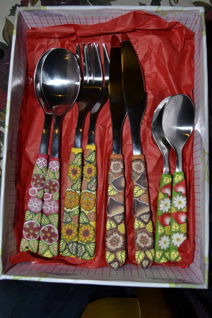 For your table...polymer clay and inox, handmade, four seasons...