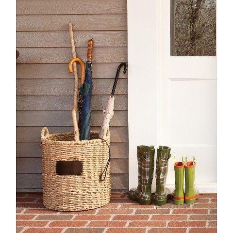 Smith Amp Hawken Round Decorative Basket With Chalkboard