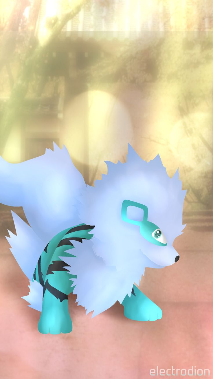 #arcanine #pokemon #arkani #shiny #blue