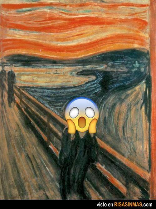 El grito de Munch versión emoticón
