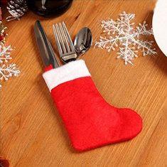 Christmas santa bas noël chaussette dinning couverts titulaire vaisselle…