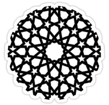 Islamic Stars - Black Outline by Muhammad Azim Ahad