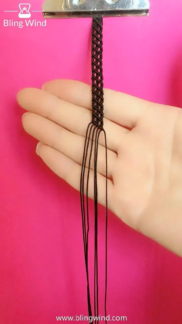 Diy Braided Lace Bracelet Ring Choker Headband Step 3 Choose Threads In Different Color And Creat In 2020 Diy Braided Bracelet Bracelet Tutorial Bracelet Crafts