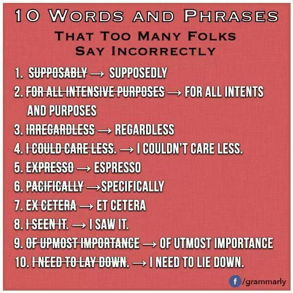 10 writing pet peeves