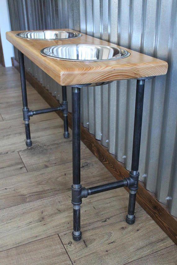 XL Raised Dog Food Stand / Raised Great Dane Dog Feeding Stand