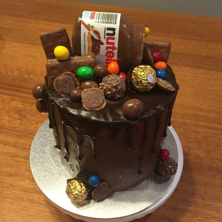 Nutella chocolate cake