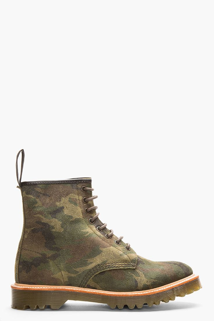 8 Best Products I Love Images On Pinterest Boots For Men Footwear Mooi Printing Premium Sweater Top Garden Bunny L Martens Green Suede Camo Print Rugged Core 1460