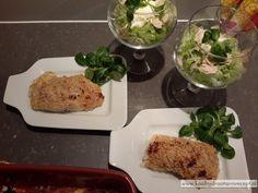 Kabeljauw in een kaas-amandelkorstje. Onverwacht feestelijk koolhydraatarm gerecht en met een frisse salade erbij, ruik ik het voorjaar al!