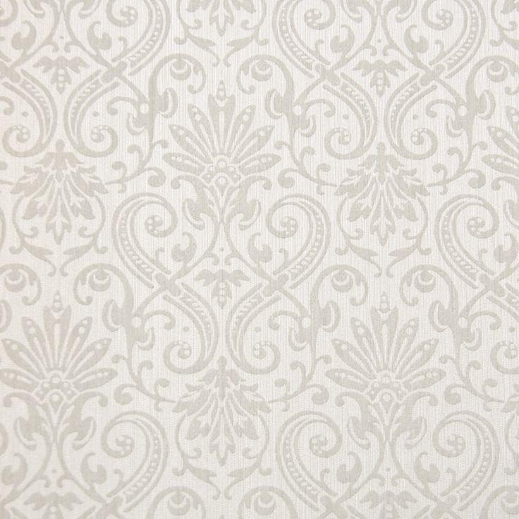 Tapet textil crem floral 072388 Sentiant Pure Kolizz Art