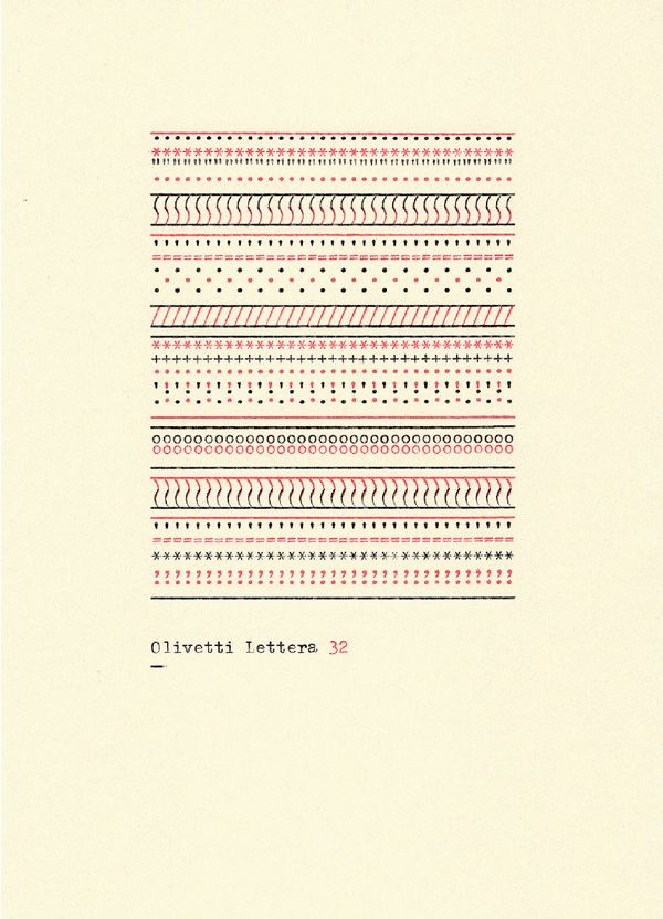 Typewriter pattern // A Visual History of Typewriter Art from 1893 to Today | Brain Pickings