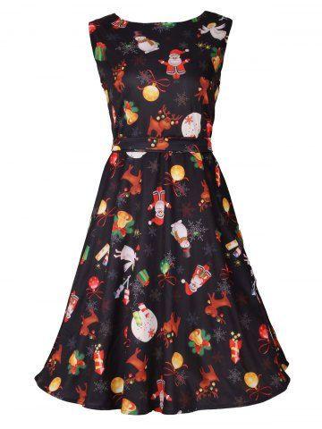 GET $50 NOW | Join RoseGal: Get YOUR $50 NOW!http://m.rosegal.com/print-dresses/christmas-print-sleeveless-flare-dress-945274.html?seid=7691263rg945274