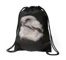 Swan Drawstring Bag