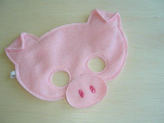 Little pig mask and other masks by same seller