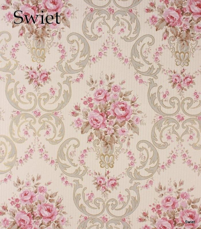 Romantisch bloemen behang | Swiet