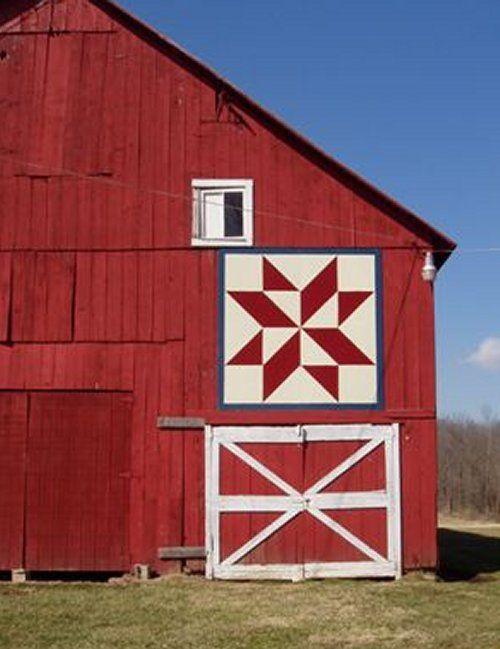 Barn Quilt, diamond-star, Rt. 138, Highland County
