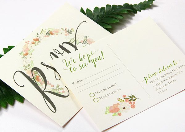 Standard Wedding Invitation Wording: Post Card Rsvps Save Money On Envelopes And Postage