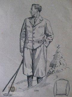 "1928 fashion illustration of a ""Winter Hiking Knickerbocker Suit"""