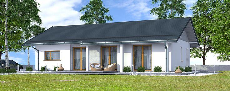 Nevada 2 to projekt niewielkiego domu parterowego o powierzchni użytkowej 87,82 m2.