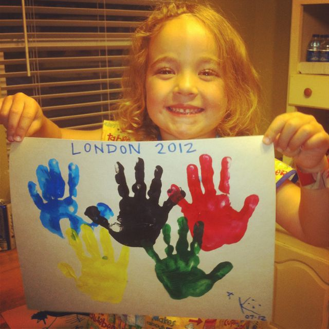 2012 Olympics - Crafts with the kiddo!