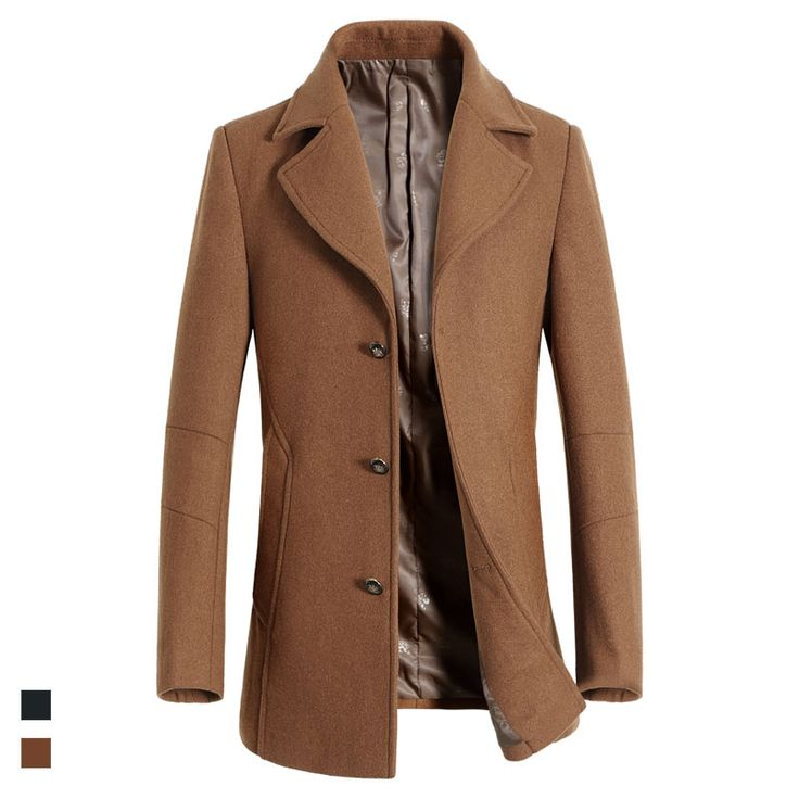 nice Brand Winter Men's Jackets And Coats Man Double Breasted Stylish Pea Coats Men Wool Coat High Quality Trench Coat
