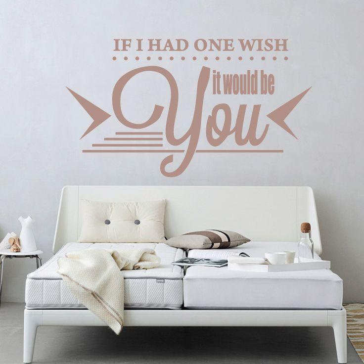 If I had one wish it would be you! - Αυτοκόλλητο τοίχου Houseart