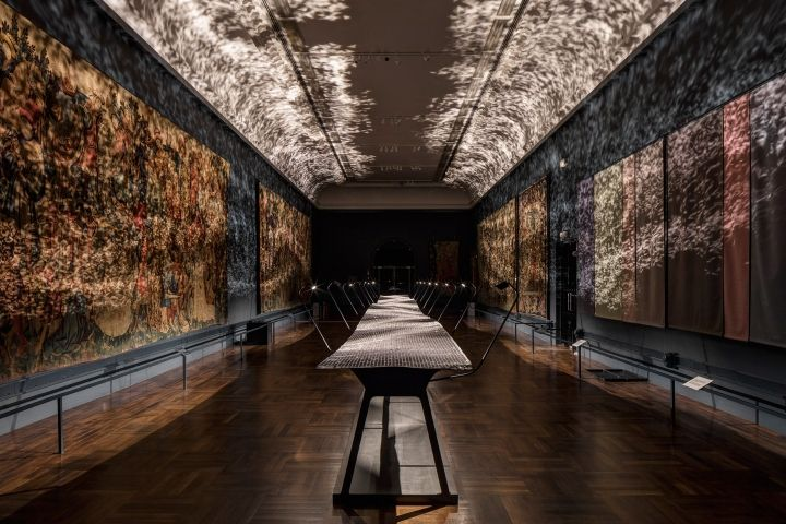 Foil kinetic installation by Layer London  UK