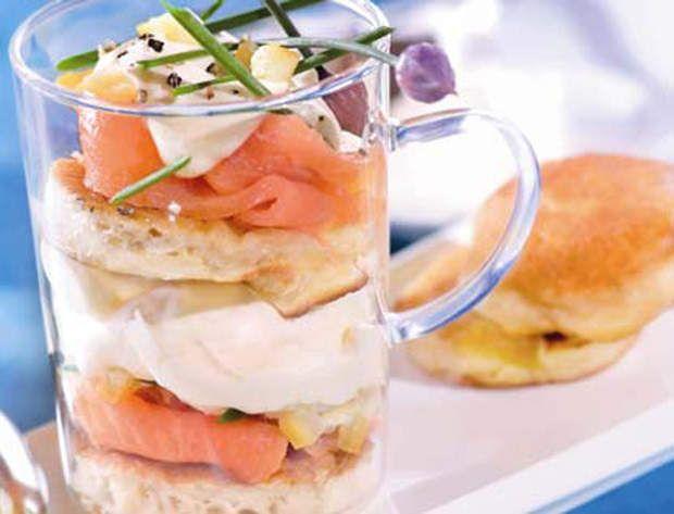 Tiramisu au saumon fuméDécouvrez la recette du tiramisu au saumon fumé
