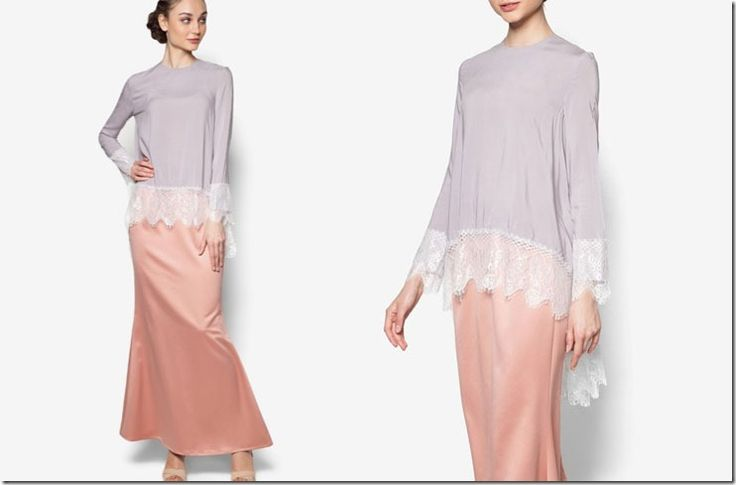 Are you into soft colorblocking with the inclusion of minimal lace in your baju kurung? Then, this post is dedicated especially for you.