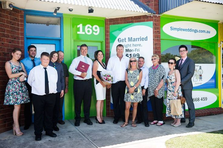 And here are the couple (Drew and Donna) and some of their guests just out the front of my office at 169 Main North Rd, Nailsworth:  Looking to hire Christopher Steele - the famous Adelaide marriage celebrant? Phone 1300 668 459  #adelaidecelebrant #marriagecelebrant #weddingcelebrant #civilcelebrant #bestcelebrant #hirecelebrant