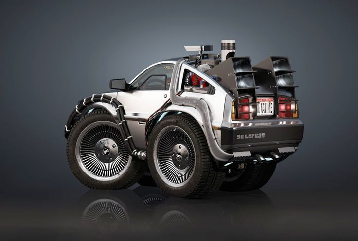 Super Deformed DeLorean DMC from Back To The Future