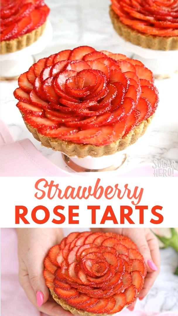 Strawberry Rose Tarts Video