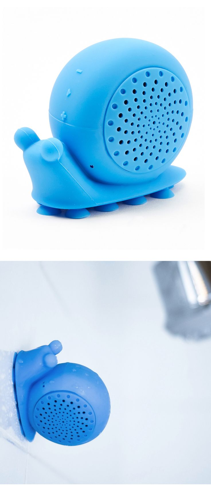 Bluetooth Shower Speaker Creatures (snails, octopus, & turtles)   This is awesome! I want a shower snail! hehe :P Krissy