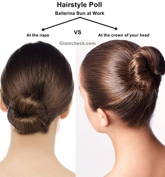 Work Hairstyle Poll Two Faces of the Ballerina Bun  Hairstyle Tutorials  Work hairstyles