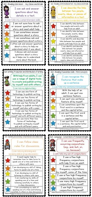 Common Core Star Rubircs and Differentiated Checklists for grade one$