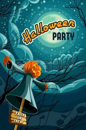 Хэллоуин плакат, в стиле ретро Хэллоуин векторные иллюстрации