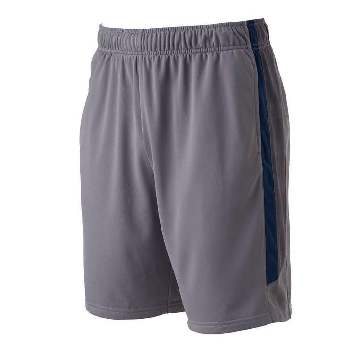 Men's Tek Gear® Side Striped Shorts, Size: Medium, Med Grey