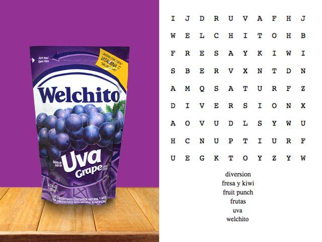 ¡Rétate buscando las 6 palabras en la sopa de letras de Welchito!