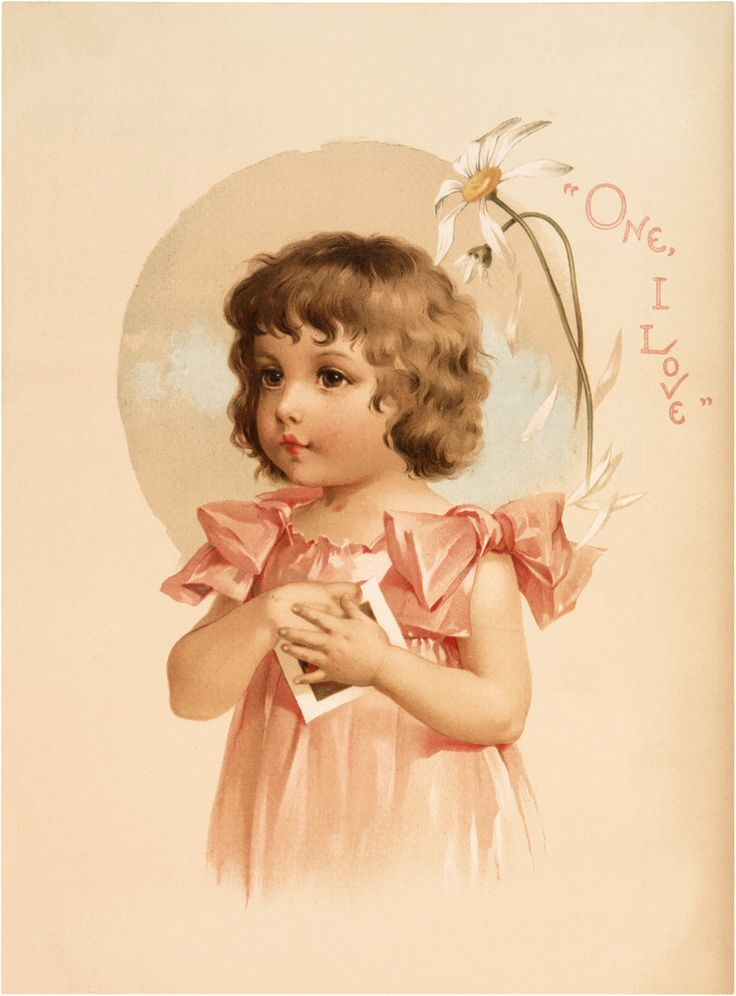 Vintage Daisy Girl Image