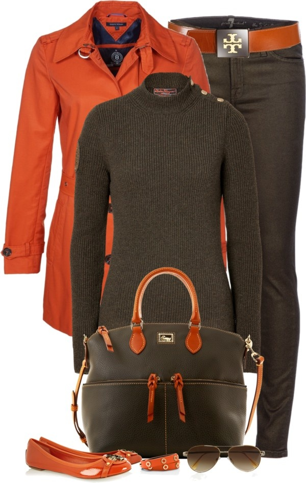 """""""Orange/Brown"""" by partywithgatsby on Polyvore"""