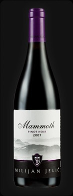 Milijan Jelic, Mammoth 2007. Pinot Noir from Serbia. Excellent!