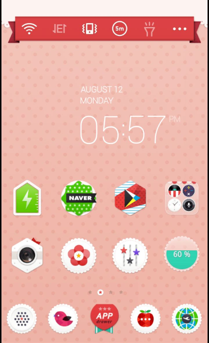 Adorable pink skin theme by dodol launcher