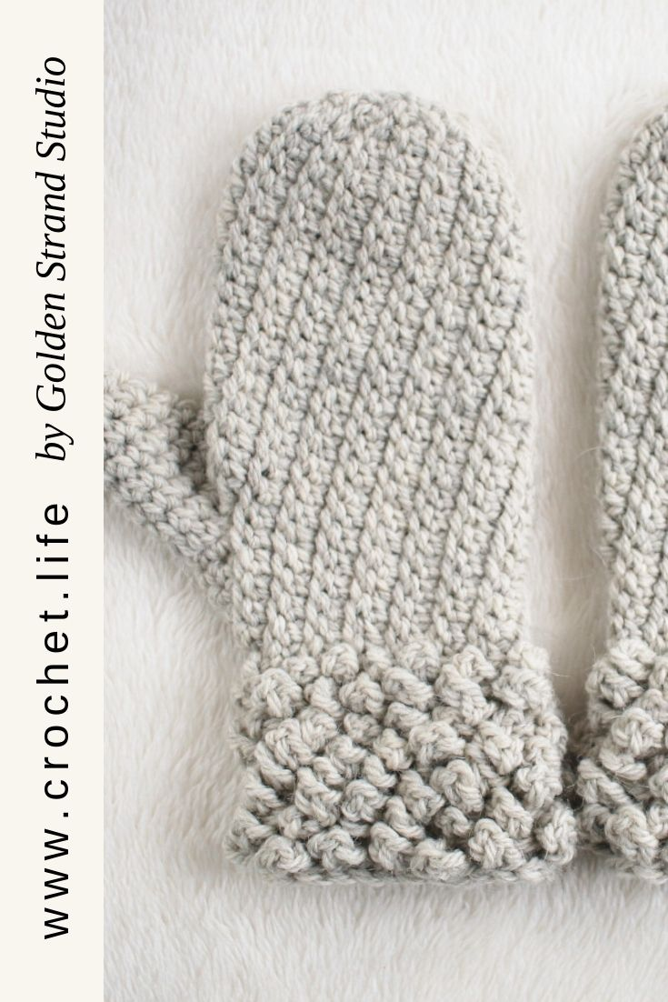 Easy To Crochet Mitten Pattern For Toddlers Kids And Adults
