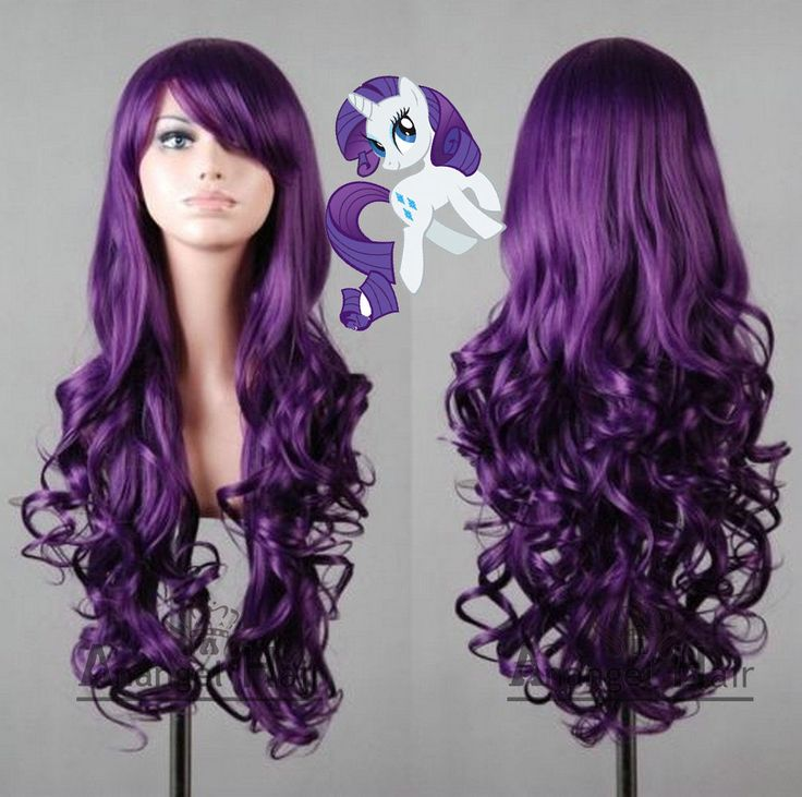 Free Hair Cap My Little Pony Rarity Wig Halloween Purple Costume Cosplay Wig | eBay