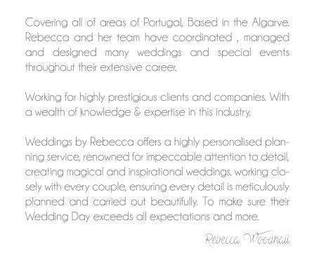 About Us! Algarveweddingsbyrebecca.com