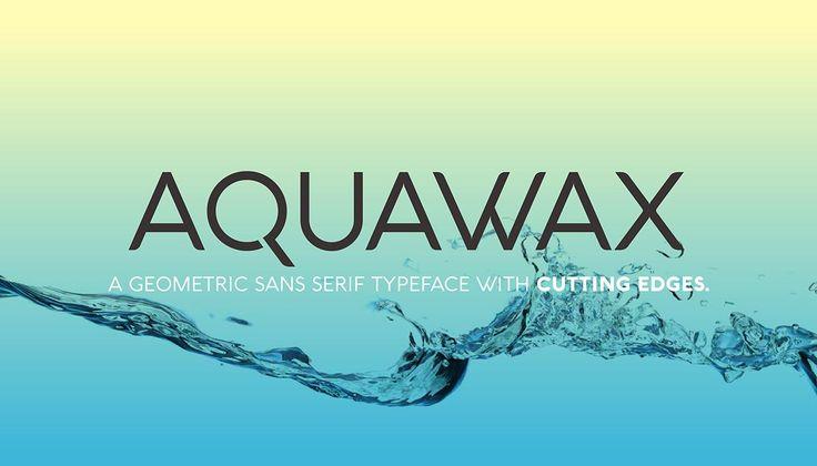 Шрифт AquaWax бесплатно на seedraft.ru