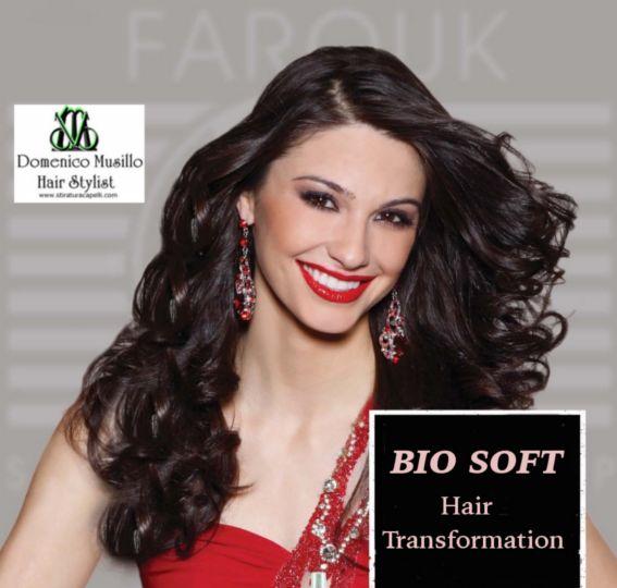 BIO Soft Transformation la stiratura dolce per  togliere il crespo ai capelli e averli mossi lucidi e belli