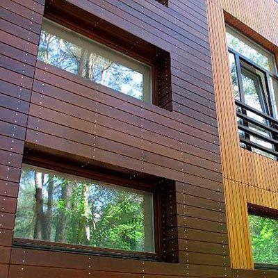 изготовление деревянных фасадов