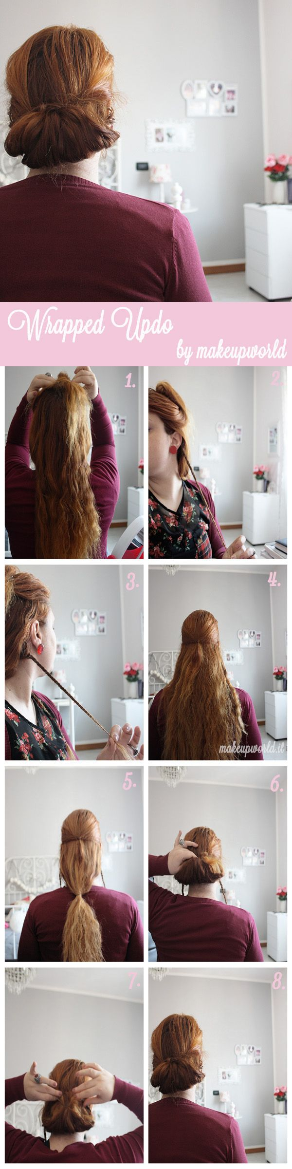 wrapped updo tutorial